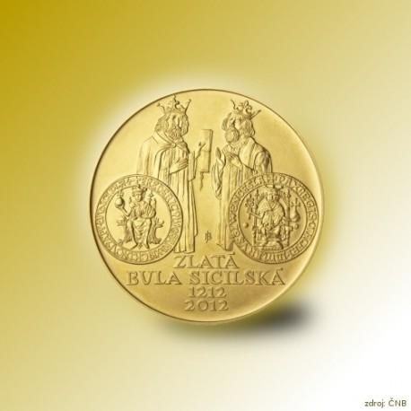 Zlatá mince 10000 Kč Zlatá bula sicilská 1oz 2012 Proof_