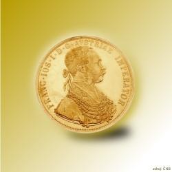 Zlatá investiční mince 4-Dukát Františka Josefa I. 1915 Standard_