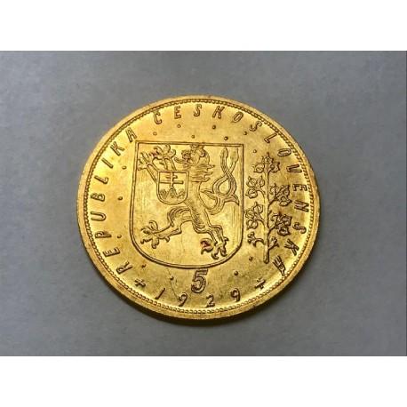 Zlatá mince Svatováclavský 5 Dukát 1929
