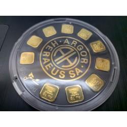 Zlatý slitek Argor Heraeus 10x1 gram