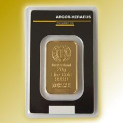 Zlatý slitek Argor Heraeus 30g