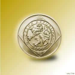 Zlatá mince 5000 Kč Malý groš 1995 - 1996 Proof