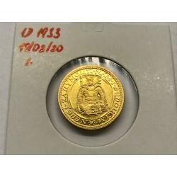 Zlatá mince Svatý Václav Jednodukát Československý 1933