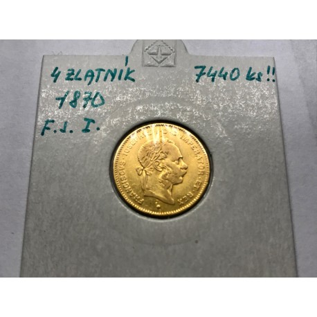 4 zlatník 1870 F.J.I.