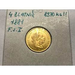 4 zlatník 1881 F.J.I.