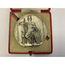 Stříbrný Velechrám 1929 Šejnost + originál etuje