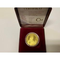 Pamětní zlatá medaile k 645 letům Karlův most