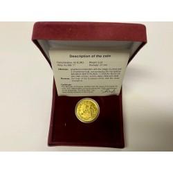 Zatá mince 50 Euro Belgie 2008