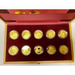 2015 - 2020 Sada 10 proof vydaných zlatých mincí Hrady České republiky