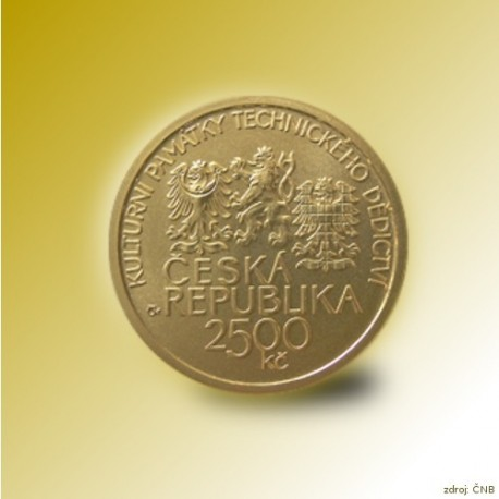 Zlatá mince 2500 Kč Hamr v Dobřívě 2010 Proof