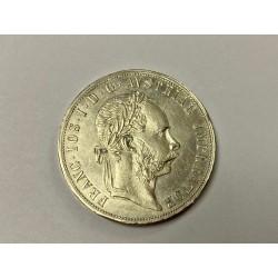 Stříbrná mince 2 zlatník F.J. I 1880