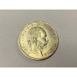 Stříbrná mince 2 zlatník F.J. I 1891