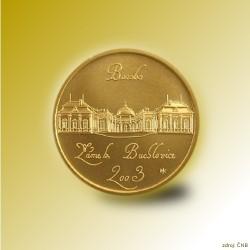Zlatá mince 2000 Kč Zámek Buchlovice Baroko 2003 Proof