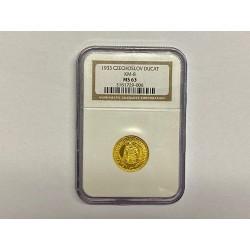 Zlatá mince Svatý Václav Jednodukát Československý 1933 MS 63 !!!