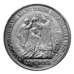 Stříbrná replika 100 korona František I.