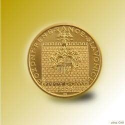 Zlatá mince 2000 Kč Štíty Domů ve Slavonicích Pozdní Renesance 2003 Proof
