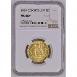 Zlatá mince Svatý Václav 2 dukát 1935 Československý