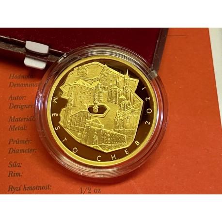 Zlatá mince Cheb PROOF 5000 Kč.