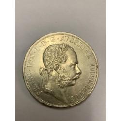 Stříbrná mince 2 zlatník F.J. I 1882