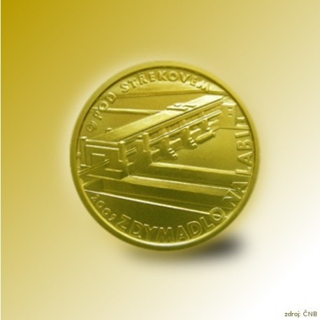 Zlatá mince 2500 Kč Zdymadlo na Labi pod Střekovem 2009 Proof