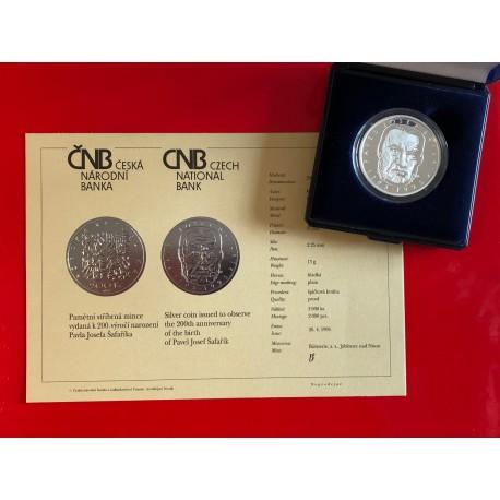 Stříbrná mince Šafařík proof 1995 RR !!
