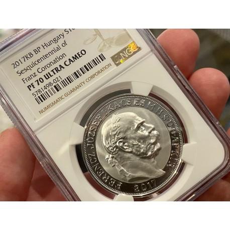 Stříbrná replika 100 korona František I.PF 70 !! ULTRA CAMEO