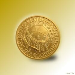 Zlatá mince 2000 Kč Kašna Kutná Hora Pozdní Gotika 2002 Proof