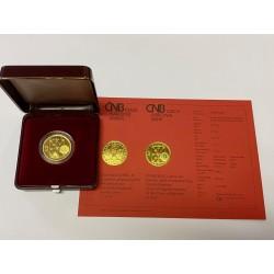 Zlatá mince 2500 Kč KAREL IV. Právní dokumenty 1998 Proof