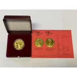 Zlatá mince Kněžna Ludmila PROOF,
