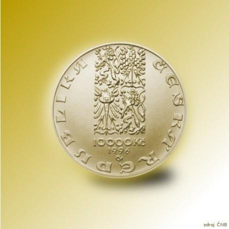 Zlatá mince 10000 Kč Pražský groš 1995 - 1996 Proof