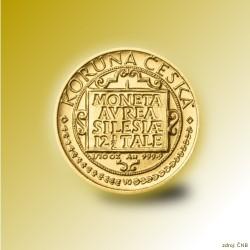 Zlatá mince 1000 Kč Třídukát slezských stavů 1995 - 1996 Proof