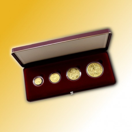 Sada 4 zlatých mincí 1999 - Karel IV. PROOF