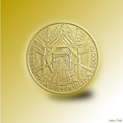 Zlatá mince 5000 Kč Dřevěný most v Lenoře 2013 Standard_