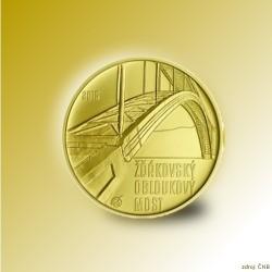Zlatá mince Žďákovský obloukový most Standard