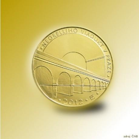 Zlatá mince 5000 Kč Negrelliho Viadukt v Praze 2012 Standard_