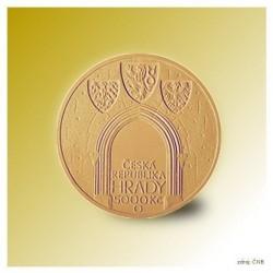Zlatá pamětní mince - Hrad Kost STANDARD