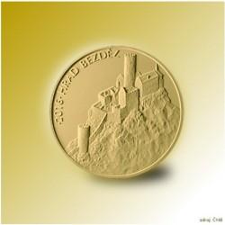 Zlatá pamětní mince - Hrad Bezděz STANDARD