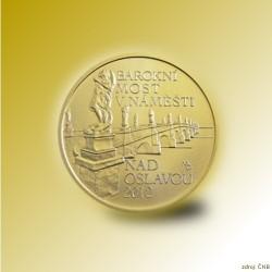 Zlatá mince 5000 Kč Barokní most v Náměšti nad Oslavou 2012 Standard_