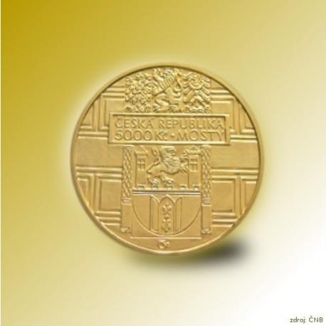 Zlatá mince 5000 Kč Renesanční most ve Stříbře 2011 Standard_