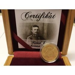 Zlatá 20 koruna 1918