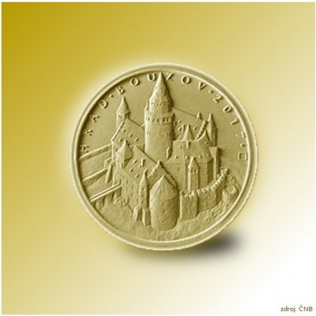 Zlatá pamětní mince - Hrad Bouzov STANDARD