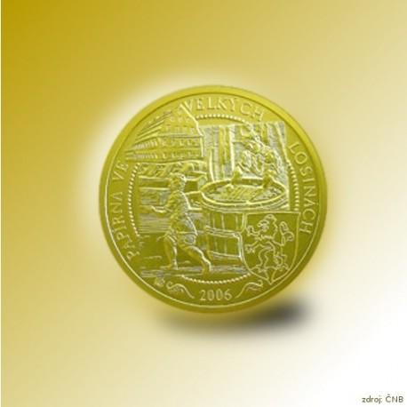 Zlatá mince 2500 Kč Papírna Velké Losiny 2006 Standard_