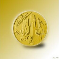 Zlatá pamětní mince - Hrad Pernštejn PROOF