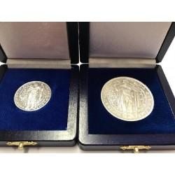 Sada dvou stříbrných medailí Milénium sv Václava R17
