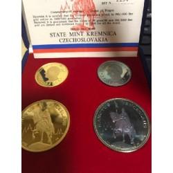 Sada čtyř medailí Pravda vítězí 1968