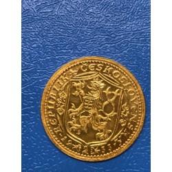 Zlatá mince Svatováclavský Dvoudukát 1933 stav unc
