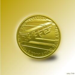 Zlatá mince 2500 Kč Zdymadlo na Labi pod Střekovem 2009 Standard_