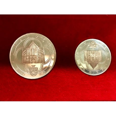 Sada velice vzácných stříbrných kutnohorských dukátů 1972 Kolářský ARTIA