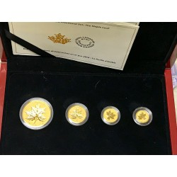 Sada zlatých mincí MAPLE LEAF.CANADA