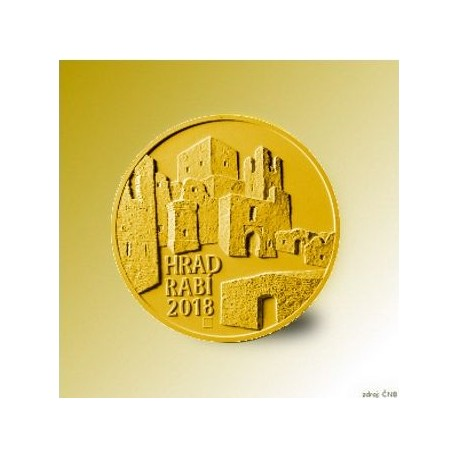 Zlatá pamětní mince - Hrad Rabí 5000Kč Standard